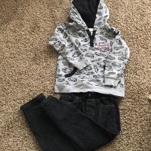 Boys kids headquarters hoodie set size 5